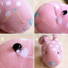 Sew | Sock Bunny | Free Pattern & Tutorial at CraftPassion.com - Part 2