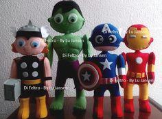 Super Herois - Thor, Hulk, Capitao America e Homem de Ferro