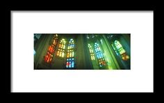 Interiors Of A Church Designed Framed Print By Panoramic Images