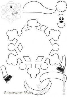 Вот такие смешные снежинки у меня получились в школу для ребёнка на украшение класса. Идею подсмотрела здесь http://stranamasterov.ru/node/118906?c=favorite Сзади ко всем снежинкам приделана верёвочка. А можно из них сделать и гирлянду, кому как нравится. фото 9