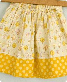 hickety pickety handmade's super easy no-hem skirt tutorial.  love no hemming!!!