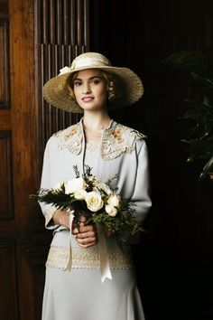 Lily James as Lady Rose Downton Wedding Day Season V