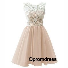 Cute lace tulle short prom dress, homecoming dress, prom dresses for teens