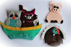 The Owl and The Pussycat Finger Puppet Patterns. INSTANT DOWNLOAD