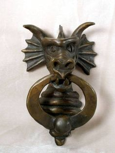 Dragon Head Door Knocker by marylou