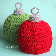 Crochet Christmas Ornament Hat Pattern - Haakpatroon voor kerstbal muts
