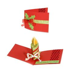Merry & Bright Candle Pop-Up Card