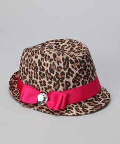 Take a look at this Bubblegum Divas Hot Pink Cheetah Fedora by Bubblegum Diva on #zulily today!