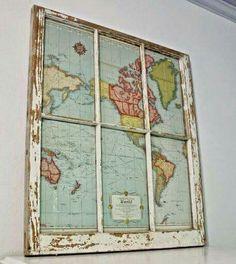clic de ideias: {decorando com mapas!} decorando by Virgínia Vilel...
