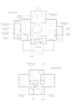 Palmetto Bluff Lake House Plans, House Floor Plans, Home Building Tips, Building A House, Floor Plans 2 Story, Interior Styling, Interior Design, Architect Drawing, Build Your House