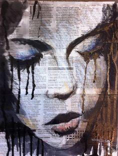 Art Lover Place - Femme triste (Peinture) par Vanessa Mancini