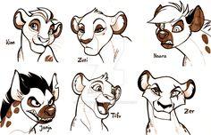 slipknotpyro: Some lion guard characters.