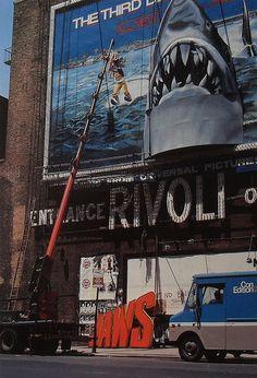 1980s TIMES SQUARE Rivoli Theatre JAWS BILLBOARD vintage NYC | Flickr - Photo Sharing!
