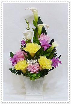 仏花 御供え花185 プリザーブドフラワーの仏花 お供え花の通信販売・仏花倶楽部