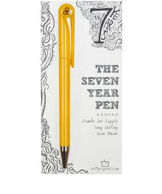 yellow happy seven year pen by Liberty