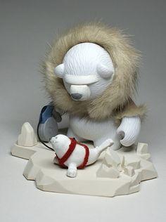Artist name: Charles Rodriguez Artist location: Caracas, Venezuela Toy Name: Nanuk Toy Type: Kidrobot Bub Toy Story: Based on a book.