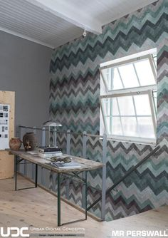 Leading wallpaper supplier & installer in Southern Africa, offering expert advice for small to large scale wall coverings commercial & residential projects. Chevron Wallpaper, Wallpaper Murals, Wallpaper Suppliers, Earthy Color Palette, Zig Zag Pattern, Bespoke Design, Entrance Hall, Valance Curtains, Dining Bench