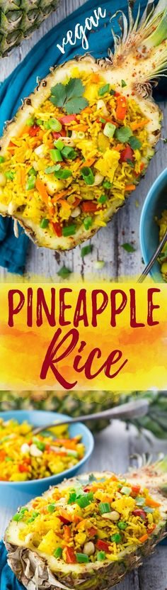 This Thai pineapple fried rice recipe couldn't be easier! It's not only super delicious and healthy, but also ready in less than 15 minutes!
