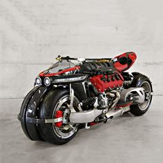 Don't go looking for this bike in your local motorcycle showroom; the Lazareth LM 847 . Read more Behold the Lazareth LM A 470 hp Quad-Wheel Motorcycle With A Maserati Engine Maserati, Ferrari, Bobber Custom, Custom Bikes, Custom Bmw, Super Bikes, 4 Wheels Motorcycle, Bike Garage, Monster Bike