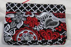 Cute Flower Fun Zipper  Bag by carriedawaywithjill on Etsy