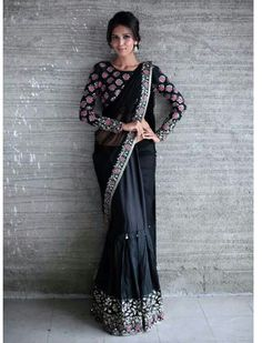 Need to know about the best quality Designer Saree kind of like Latest Elegant Saree plus Elegant Sari Blouse if so then CLICK Visit link above to read Indian Attire, Indian Wear, Indian Outfits, Indian Dresses, India Fashion, Ethnic Fashion, Asian Fashion, Moda India, Anarkali