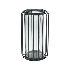19.69 Inch Wire Cage Cylindrical Hurricane Candle Holder made of Glass/Metal in #candle #holders #accessories (ebay link)