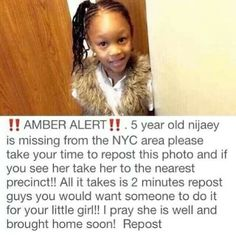 Praying that she is returned safe and sound.