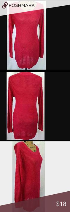 🆕COPPER KEY WOMEN CREWNECK TUNIC SWEATER(Sz M) Copper key WOMENS CREWNECK long tunic sweater . Its has long sleeves The material is 55 % cotton, 45% Acrylic . The pattern is striped. It's a tunic style sweater. THE COLOR IS PINK , RED. BRAND NEW WITH TAG. Copper Key Sweaters Crew & Scoop Necks