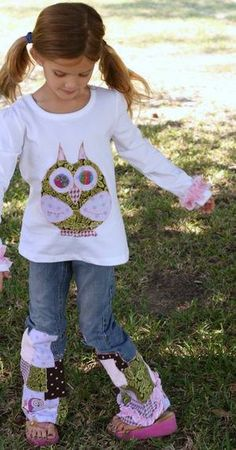Custom Jocelyn BOUTIQUE applique OWL top and by MyOnlySunshine01, $65.00