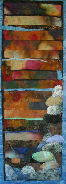 stone by Lorie McCown, via Flickr.  How fine to let the fabrics speak for themselves.  Bravo!