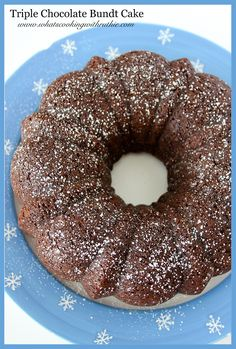 Triple Chocolate Bundt Cake by whatscookingwithruthie.com