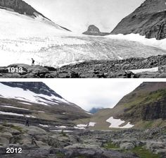 Before and After Photos Reveal How Much Glaciers Have Melted in 100 Years - My Modern Met
