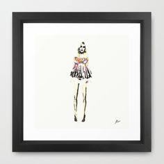 Babydoll Framed Art Print by Allison Reich - $35.00 #fashionillustration #illustration #art #home #decor #gifts