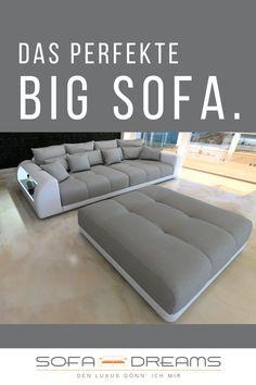 Das Bigsofa grau von Sofa-Dreams ist ein XXL Designer Möbelstück. Das Big Sofa grau macht jedes Wohnzimmer modern