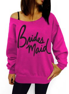 Bridesmaid Script Slouchy Sweatshirt ** This is an Amazon Affiliate link. You can get more details by clicking on the image.