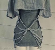 Back Braided T-shirt | 27 Awesomely Cheap Ways To Transform A T-Shirt