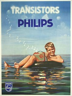 Image detail for -... Vintage Posters > Products > Philips Transistors Radio - Boy in Water