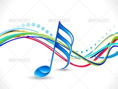 abstract colorful artistic music wave background vector illustration eps8,ai files included, rgb color