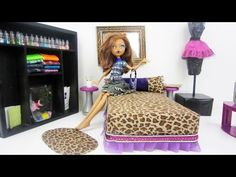 How to make a lounge bed inspired by the Monster High doll Clawdeen Wolf - Recycling