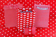 How to make bags of decotape and envelopes.