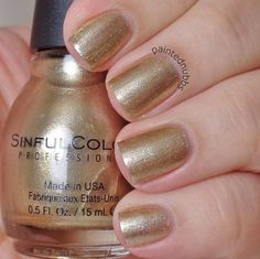 Painted Nubbs: SinfulColors Professional Gold Medal