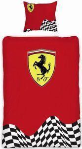 Dekbed Ferrari rood logo: 140x200/60x70 cm -DINQZ