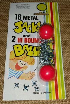 Vintage Toys Jacks 16 Metal Jacks 2 Hi Bounce Balls Game NEW 1970s SEALED Taiwan #HiBounce