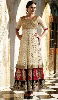 G3 Fashions Cream net party wear designer salwar suit  Product Code: G3-LSA107643 Price: INR RS 7542