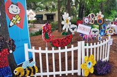 Art Design Imagination: The 2012 Earth Day Festival— Our Bottle Cap Art Garden was Quite Popular!