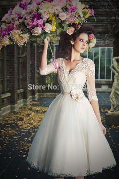 mid calf wedding dress - Google Search