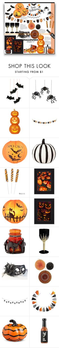 """""""Halloween Party"""" by marionmeyer ❤ liked on Polyvore featuring interior, interiors, interior design, home, home decor, interior decorating, Meri Meri, Yankee Candle, Improvements and Halloweenparty"""