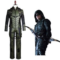 Arrow 5 Green Arrow Season 5 S5 Oliver Queen Cosplay Costume Outfit Harness Suit Uniform