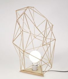 This geometric lamp wants to live on a credenza.