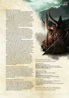 DnD 5e Homebrew — Chaos Chosen Class Source: https://goo.gl/c9n6ju...